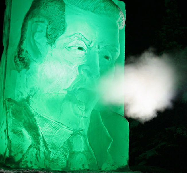 Frozen Gore Ice Sculpture – Compeau's