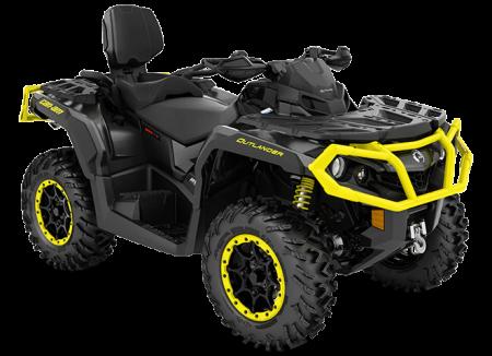2020-Outlander-MAX-XT-P-850-Carbon-Black-Sunburst-Yellow_3-4-front