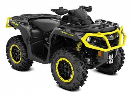 2020-Outlander-XT-P-1000R-Carbon-Black-Sunburst-Yellow_3-4-front