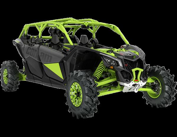 2021-Can-Am-Maverick-Max-X3-Xmr-TurboRR-IronGrey-MantaGreen-34Front