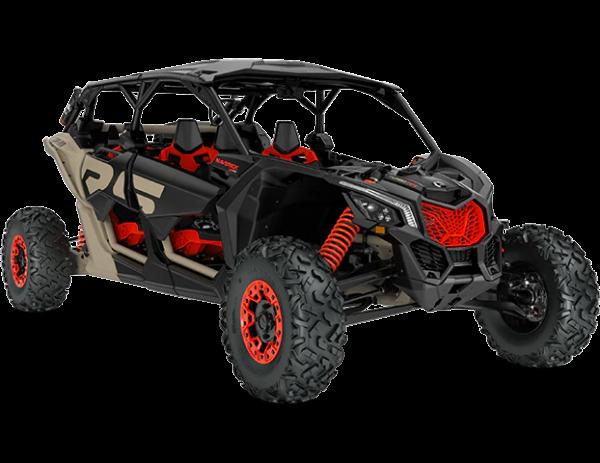2021-Can-Am-Maverick-Max-X3-XrsSAS-TurboRR-MacchiatoSatin-Black-CanAmRed-34Front
