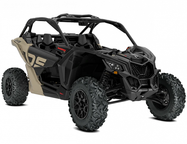2021-Can-Am-Maverick-X3-DS-TurboR-MacchiatoSatin-Black-34Front