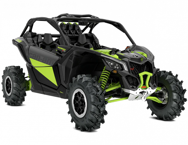 2021-Can-Am-Maverick-X3-Xmr-Turbo-IronGrey-MantaGreen-34Front