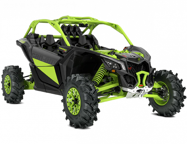 2021-Can-Am-Maverick-X3-Xmr-TurboRR-IronGrey-MantaGreen-34Front