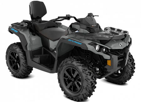 MY21-Can-Am-Outlander-MAX-DPS-650-Granite-Gray-Octane-Blue-34view