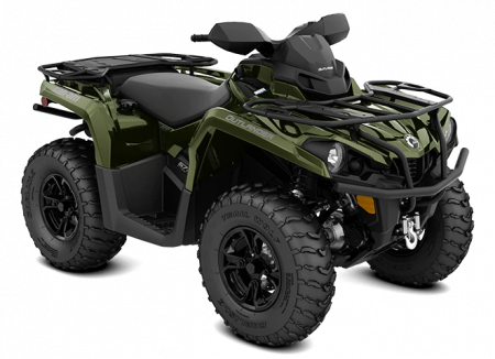MY21-Can-Am-Outlander-XT-570-Boreal-Green-34view