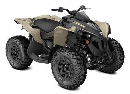 MY21-Can-Am-Renegade-STD-570-Desert-Tan-Black-34view